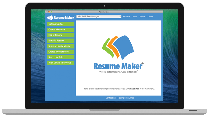 resume maker for mac