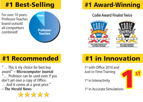 Professor Teaches® Office 2010 - Awards
