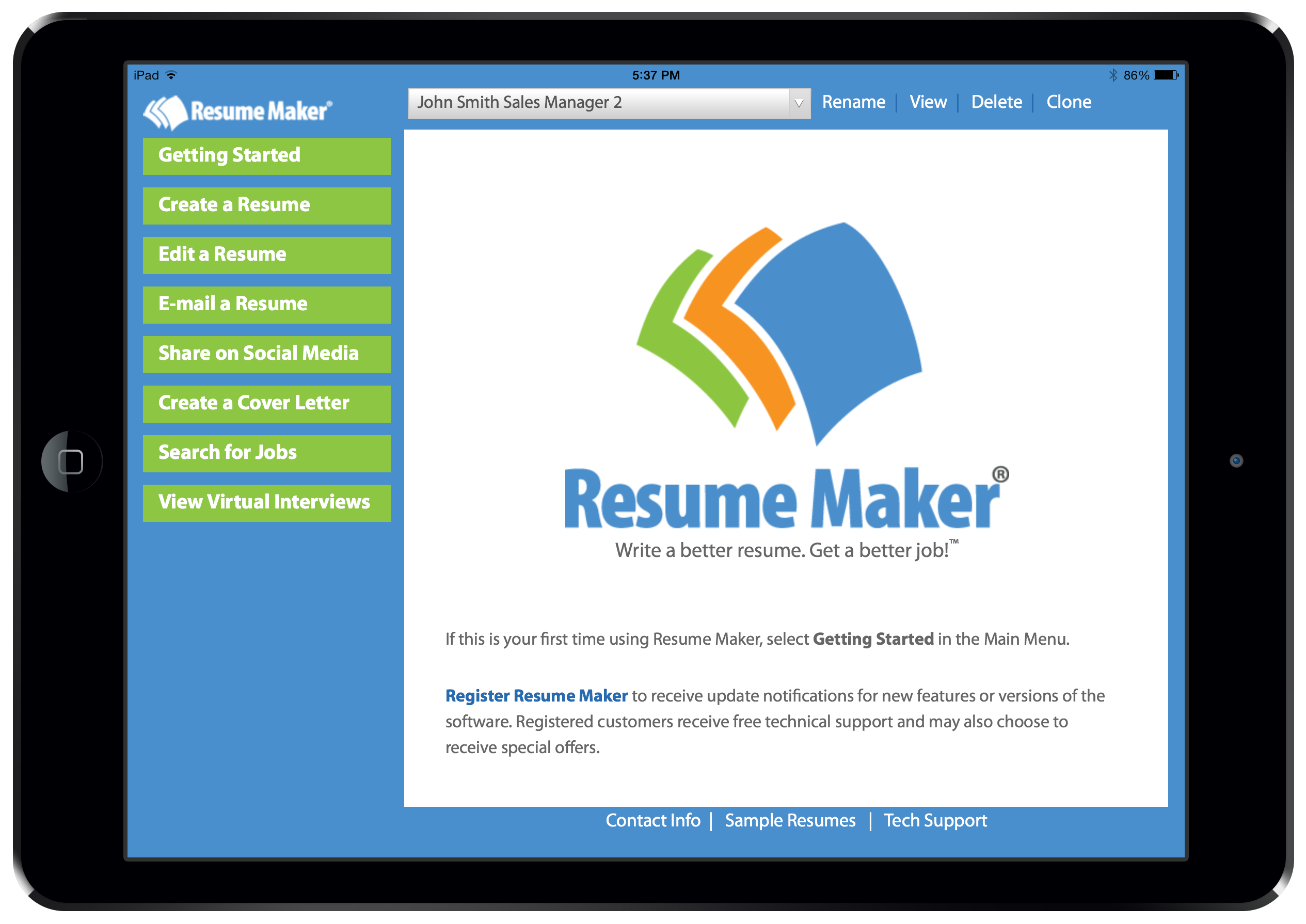 resume career individual software resume maker® for ipad