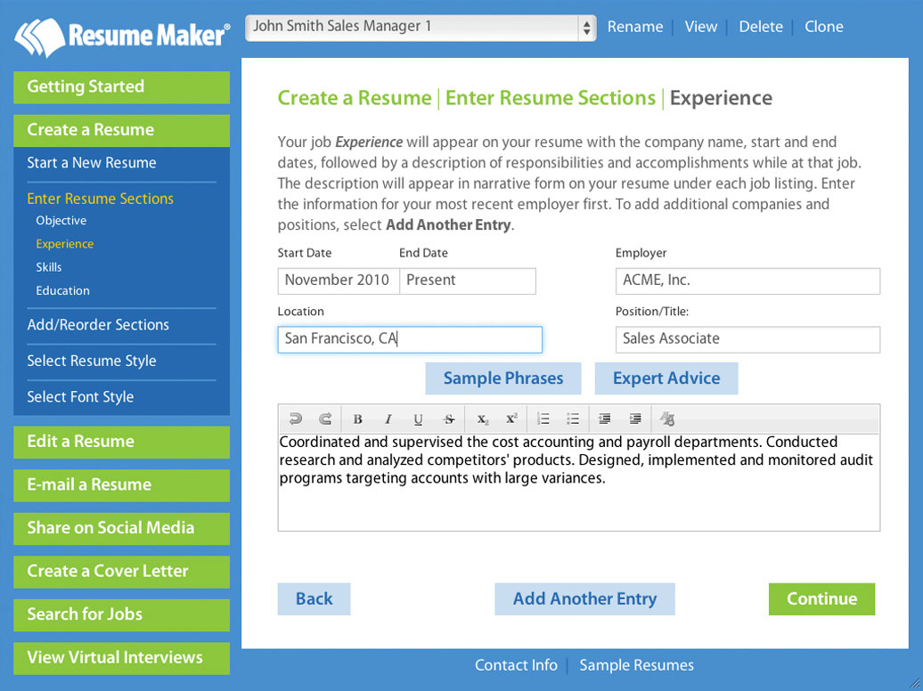 write a better resume resume maker individual software resume maker® for mac