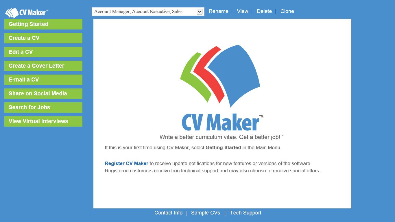 cv maker for windows individual software cv maker for windows 19 99
