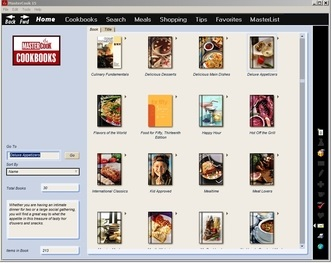 Choose recipes from several cookbooks or create your own unique cookbook.