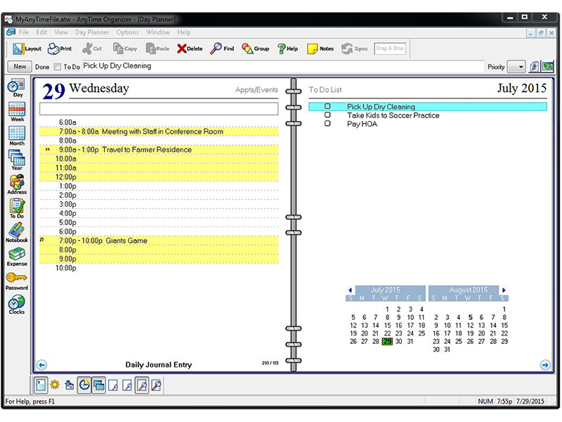 Individual software anytime organizer deluxe v13 for Software planner