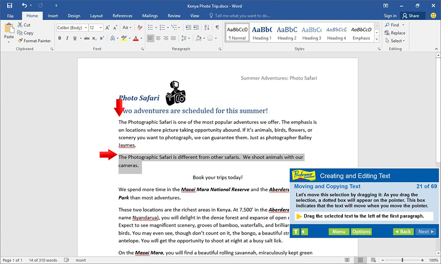 Increase your productivity by learning how to create and edit text.