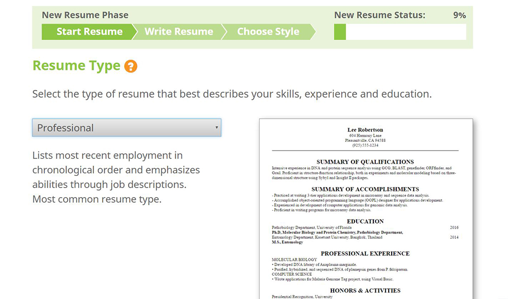 write a better resume  resumemakerpro web