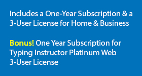 Bonus! One Year Subscription for Typing Instructor Platinum Web