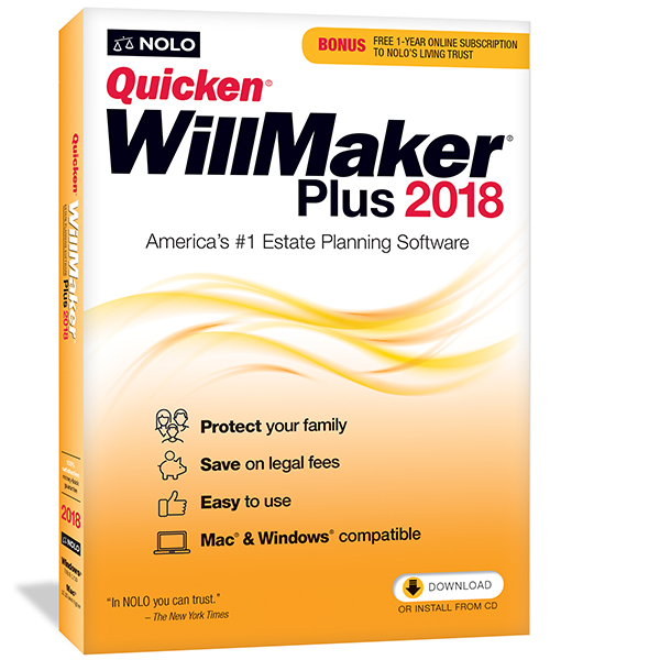 Quicken WillMaker Plus 2018