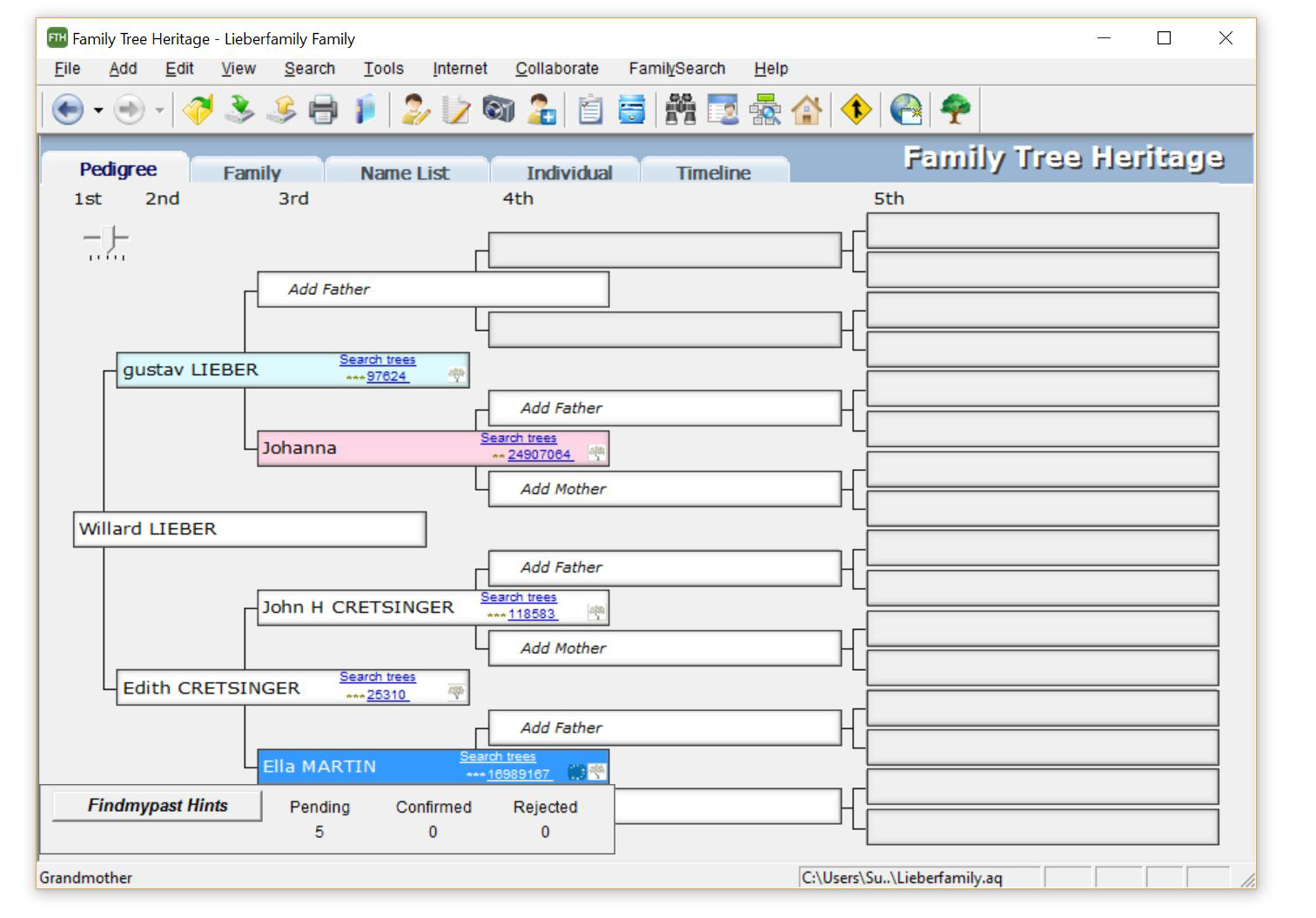 TreeTips™ is an innovative technology built into Family Tree Heritage that displays hints for possible records about your ancestors.