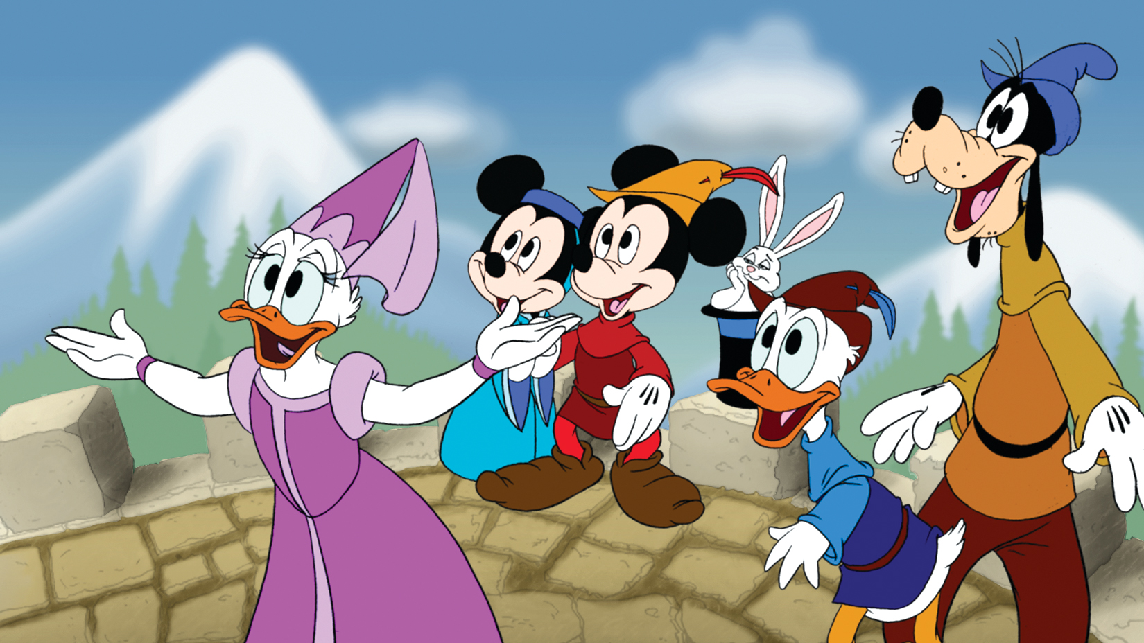 Solve the mysterious enchantment in Typelandia. Help Mickey's friends make it to the Palace.