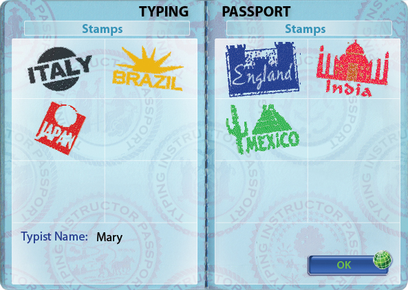 Pass tests and get rewards and passport stamps.