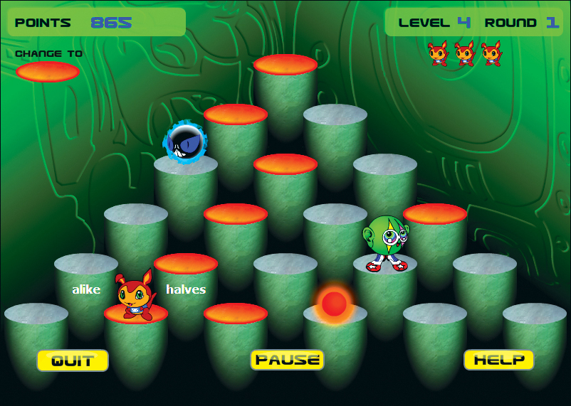 Ziggy's Pyramid is an arcade-style game with four levels of play.