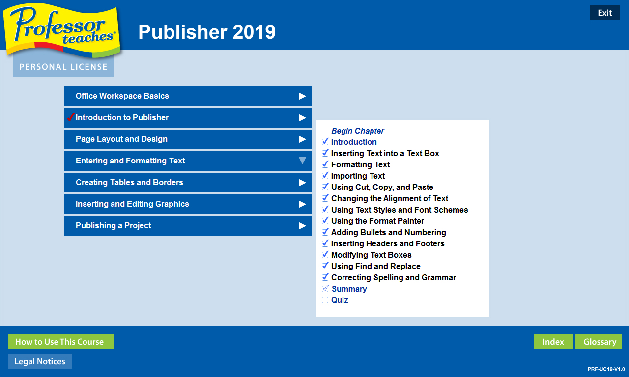 Learn all the basics and more with Professor Teaches Publisher 2019.